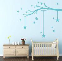 Winter Tree Branch & Stars Wall Sticker Decal | Nursery Kids Bedroom DIY | G20