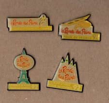 Lot de 4 pin's cyclisme / tour de France 92 (partenariat ronde des pains) époxy