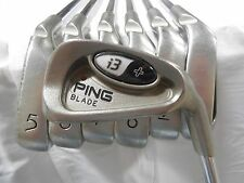 Used RH PING i3+ Blade Iron Set 4-PW Brown Dot Steel CS-Lite Stiff Flex Shafts