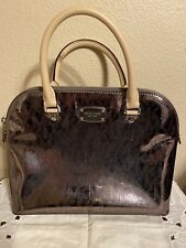 Michael Kors Shiny Logo Hand Bag Purse Tote