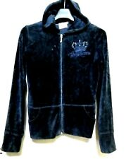 Juicy Couture Navy Zipped  Velour hoodie Jacket