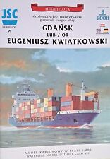 General Cargo Ship Gdansk Paper Waterline Model Scale 1:400
