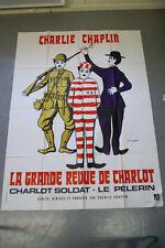 Affiche de cinéma : LA GRANDE REVUE DE CHARLOT de CHARLIE CHAPLIN