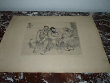 Lithographie Theophile Alexandre Steinlen 4 Militaires Nr. 81/100 signée crayon