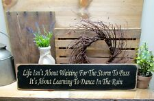 Wood Inspirational Sign, Storms To Pass Wooden Sign, Black Sign