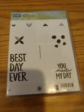 Stampin-Up! Unmounted Rubber Stamp Set- Best Day Ever