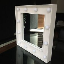 hollywood led dressing table wall mirror small 30x30 cm led light wall mirror