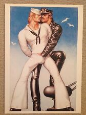 Vintage Tom Of Finland Leather & Sailor 12x17 Print Gay Erotic Male Fetish