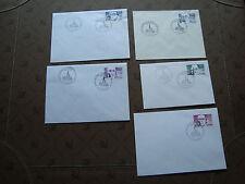 FRANCE - 5 enveloppes 1984 (cy39) french