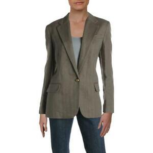 Ralph Lauren Womens Wilona Herringbone Tweed Office Blazer Jacket (323)