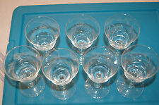 Noritake Sasaki etched wine? goblets/glasses cabbage roses (7) Excellent