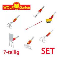 Wolf Garten multi-star® Garten Geräte Set Helfer Rechen Hacken Fugen kratzen