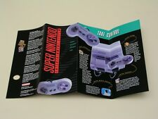1991 Super Nintendo system launch advertising brochure - SNES