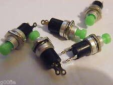 5x Mini Miniatura Pulsador Switch Spst Push sobre momentáneo Maqueta Hobby