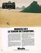 PUBLICITE ADVERTISING 054  1980  MINOLTA  appareil photo XD7