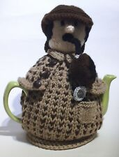 TeaCosyFolk Sherlock Holmes Tea Cosy Knitting Pattern - Knit your own!