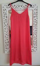 Topshop Pink Satin Cami Midi Dress, Size UK 6 New
