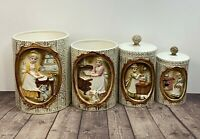 VTG 1978 Ceramic Canisters - Antique Sears Roebuck Nesting Jars - Made in Japan!
