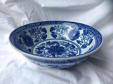 Beautiful Blue & White Patterned Porcelain Bowl - Moyses Stevens of London