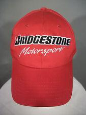Bridgestone Motorsport Red Billed Cap Cotton Snap Back Adj. Hat Racing Firestone