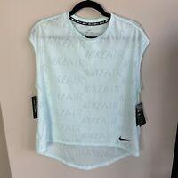 Nike Air Women's Size L Nike Air Running Top Lightweight Mesh Sleeveless Shirt