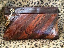 Vintage SUSAN GAIL Envelope Clutch Snakeskin made in Spain