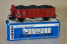 MARKLIN MäRKLIN 4601 DB COAL LOAD BROWN PLANK WAGON OFFNER GÜTERWAGEN 816701 ne
