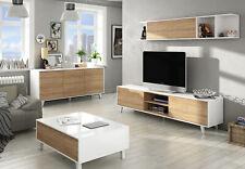 Credenza Buffet moderna FORES cm 154x41x75h con 3 ante finitura bianco/rovere