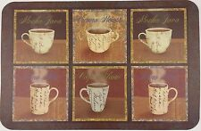 MEDITERRANEAN COFFEE THEMED PLACEMATS Vinyl 3 Ct Set