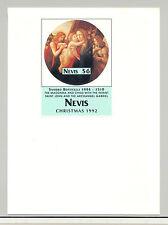 Nevis #759 Christmas Art 1v S/S Imperf Proof on Card
