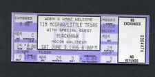 1998 Tim McGraw Little Texas Blackhawk Unused Concert Ticket  Macon All I Want