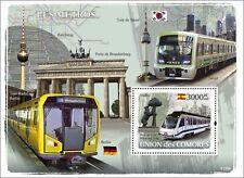 Metro Trains Subway Locomotives Comores 2008 s/s Sc.1016 MNH #CM8120b