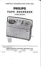 Philips Service Manual für EL 3514 englisch komplett  Copy