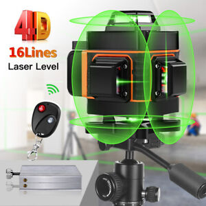 360° Green Beam Light 16 Lines 4D Laser Horizontal Vertical Self Leveling Home