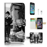 ( For iPhone 7 Plus ) Wallet Case Cover P2511 Chaplin
