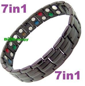 TITANIUM STEEL Magnetic Energy  Armband Power Bracelet Bio 7in1 Bio