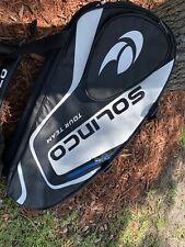 Solinco Tour Team 9 Tennis Racket Bag & Backpack Black & White Nwt $100