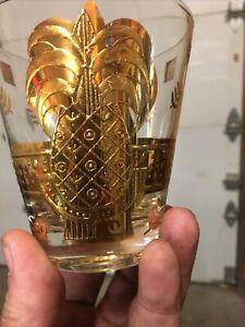 Six George Briard Glasses Gold
