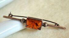 925 Silber Bernstein Brosche - amber brooch silver
