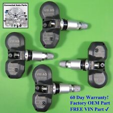 Set of 4 Volkswagen TIRE PRESSURE SENSOR TPMS OEM 3AA 907 275 433 MHz SET-TS65