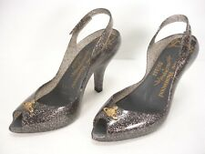 NEW VIVIENNE WESTWOOD ANGLOMANIA + MELISSA JELLY GLITTER ORB HEEL SHOES WOMEN 5