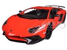 LAMBORGHINI AVENTADOR LP 750-4 SV RED 1/24 DIECAST MODEL CAR BY  BBURAGO 21079
