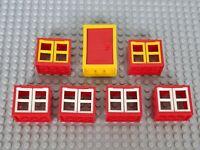 Lego City Creator System Fenster und Tür Rot Gelb Weiß (6)