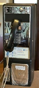 Pay phone Vintage Metal Push Button Dial Coin-Op Pay Phone