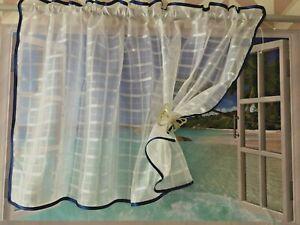 Caravan small Window Voile Curtain 120 x 59cm (48'x23'),140x90cm (55'x35') ready