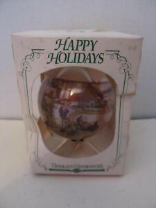 """HARLEY-DAVIDSON Christmas 1993 Glass Bulb Tree Ornament~""""Christmas Vacation"""""""