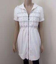 NWT Roxy Womens Short Sleeve Sweater Size Medium Hoodie Top Shirt Hearts White