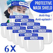 6x Full Face Covering Anti-fog Safety Shield Tool Dust Clear Glasses Eye Helmet