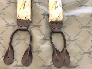 Romulus Adjustable Leather Atlantic Salmon, Brook Trout, Perch Suspenders Casual