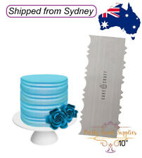 COLONIAL Stainless Steel Buttercream Comb - 10 inch Cake Decorating Scraper